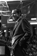 Nixon at political gathering Albuq NM 1970
